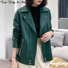 2020 Women Spring Genuine Real Sheep Leather Jacket R5