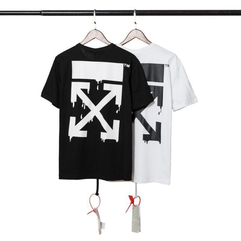 Off Summer Wear Europe And America Popular Brand T-shirt Ow European Version Of Loose-Fit Men And Women Short Sleeve T-shirt Bas