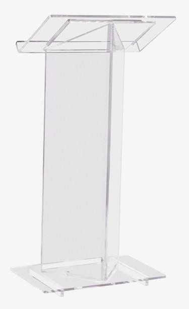 Beautiful Transparent Acrylic Podium Pulpit Lectern Plastic Podium