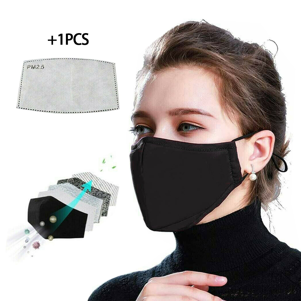 YELITE Anti Pollution PM2.5 Mouth Mask Dust Activated Carbon Filter Washable Reusable Masks Unisex Mouth Muffle