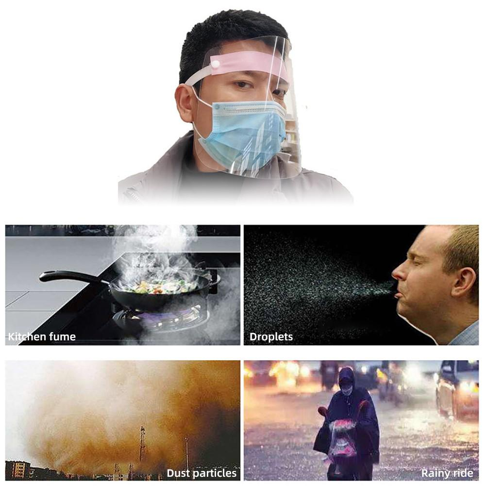 PVC Lightweight Transparent Anti-splash Face Shield Isolation Protective Mask Clear Anti Droplet Dust-proof Mask Covers