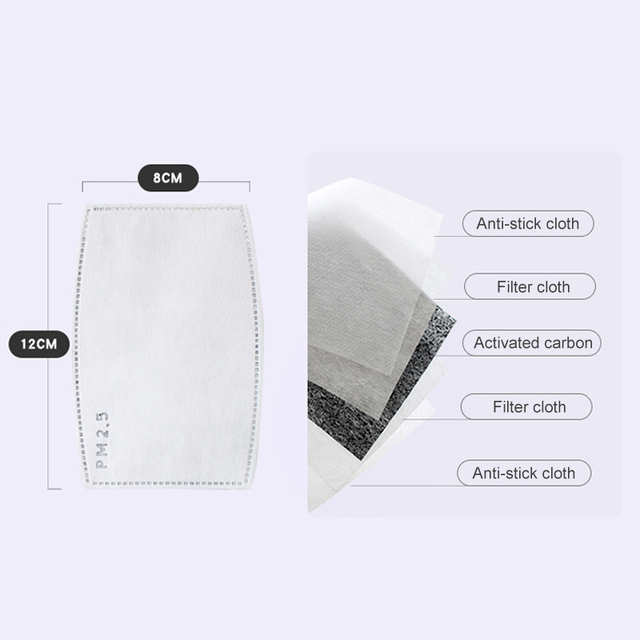 Security Pm2 .5 Anti Fog Mask Washable Anti Haze Mask Activated Filter Respirator Mouth Muffle 3