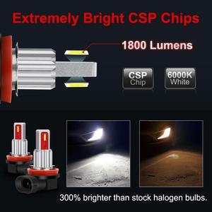Image 2 - 2Pcs LED H8 H11 Led Bulb 9005 HB3 9006 HB4 Led Auto Fog Light 6500K 8000K 4300K Car Lamp 12V Driving Running Lamp Blue Amber
