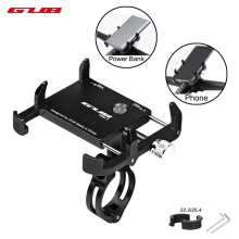 GUB 3.5-7.5 inch Universal Bicycle Phone Mount Holder Stand Aluminum Adjustable MTB Bike Motorcycle GPS Phone Power Bank Support цены онлайн