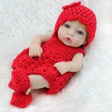 26 см Мини-куклы Reborn для новорожденных, реалистичные игрушки для новорожденных, реалистичные полностью силиконовые виниловые куклы для девочек, имплантирующие волосы вручную
