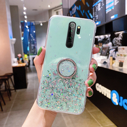 Ultra-thin Ring Cute Bling Glitter Silicone Phone Case For Xiaomi Redmi Note 9 C 8 7 Mi 10 9 T 8 Lite Pro Luxury Sequins Cover