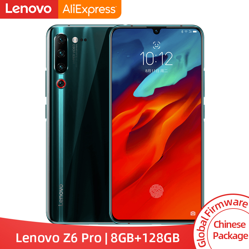 "ROM globale d'origine Lenovo Z6 Pro 8GB 128GB Snapdragon 855 Octa Core 6.39 ""FHD écran Smartphone arrière 48MP Quad caméras"