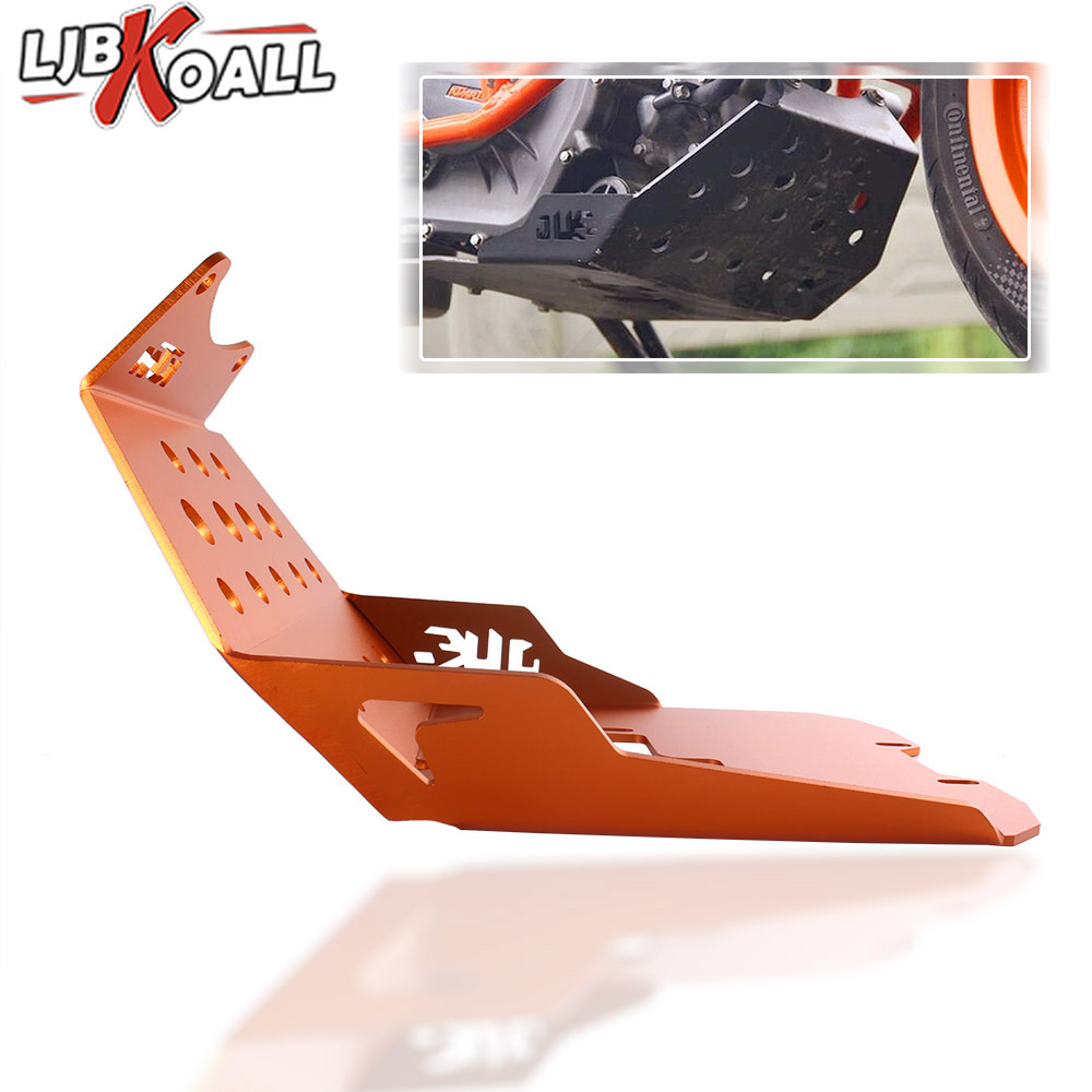 Orange Motorcycle Skid Plate Foot Rest Bash Frame Guard Engine Protector For KTM Duke 250 2015-2016 390 2013 2014 2015 2016