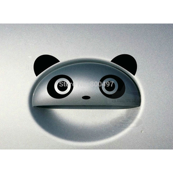 4 x Lovely Panda Car Stickers Car Door Handle Decals for Toyota Ford Chevy Volkswagen Honda Hyundai Kia Lada image