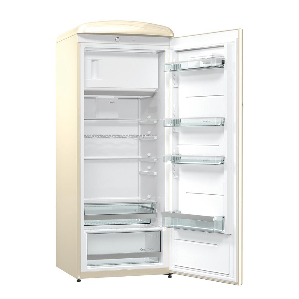Hisense RR330D4AY2 réfrigérateur, réfrigérateur, 254 litre, faible bruit, Design vintage, couleur crème, pas classe givre à + + - 2