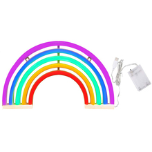 amagle usb battery powered flamingo neon lamp pink led strip wall hanging neon lights bedroom decoration marquee neon signs Night Lights Rainbow Neon Sign Light Rainbow Wall Light Battery Or Usb Operation Led Lights For Home Wall Decoration