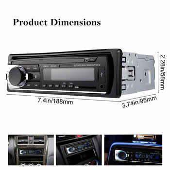1 DIN araba radyo araba ses FM Bluetooth MP3 ses çalar ...