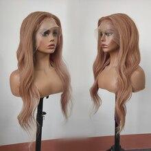 Perucas de cabelo humano glueless da onda natural loira cheia do mel do laço 130 densidade com cabelo do bebê e linha fina natural preplucked