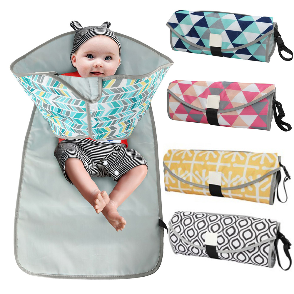 Waterproof Portable Baby Changing Mat  Baby Diaper Changing Pads Washable Newborn Baby Nappy Mat Travel Outdoor Kids Playing Pad