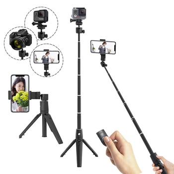 2020 nowy selfie bezprzewodowy kijek do selfie Bluetooth selfie stick mini statyw ręczny selfie stick z wyciągnikiem selfie stick z pilotem tanie i dobre opinie MR YIKUU Aluminium PC CN (pochodzenie) Działania Kamery Wideo Smartfony 1000