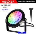 Miboxer 9 Вт RGB + CCT умный светодиодный садовый светильник DC24V FUTC01 IP65 Водонепроницаемый светодиодный светильник наружная лампа Сад Освещение