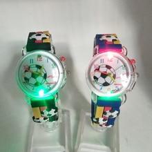 Flashing Glow Light Source Football Pattern Children's Watch Electronic