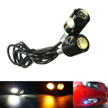 Car Motorcycle LED Eagle Eye 6000K Daytiem Running Light DRL Fog Reverse Backup Parking Fog Signal Lights Headlights COB LED(China)