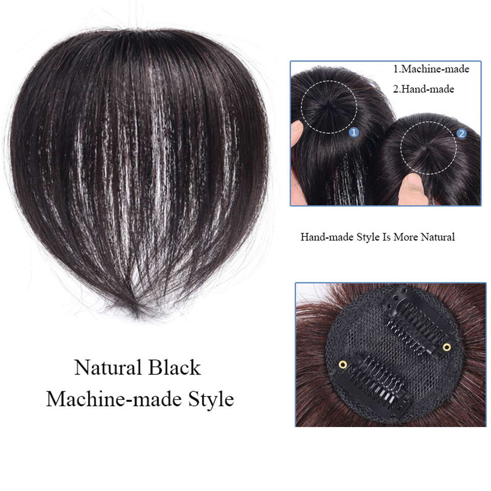 topper hairpiece natural grampo de cabelo ins franja