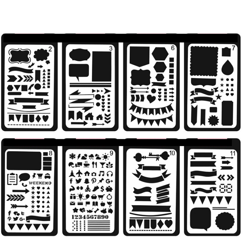 1 Pcs/set Creative DIY Drawing Template Ruler Promotional Gift Stationery Office And School Supplies Xmas Gift