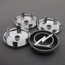 Center-Hub-Cover-Caps 60mm Car-Accessories Opel 4pcs for Astra H-G J Insignia Mokka Zafira