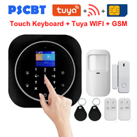 PS12 Tuya Home Security WIFI GSM Alarm System APP Remote Control PIR Door Window Sensor Burglar Alarm