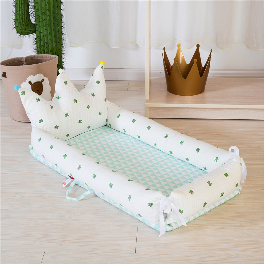 Portable Baby Bionic Bed Cradle Removable And Washable Newborn Travel Bed Baby Fence Infant Bed Bumper Foldable Playpen Crib
