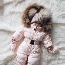 Зимняя одежда детский зимний костюм для мальчика и девочки, комбинезон-жакет с капюшоном, комбинезон, теплое плотное пальто, наряд г. vetement New fille hiver