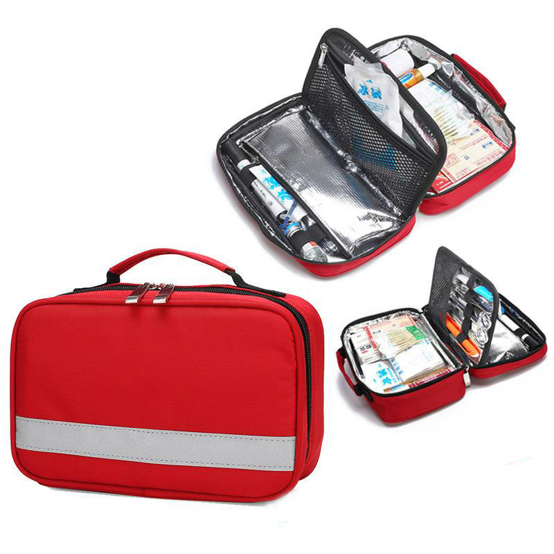 Outdoor First Aid Kit Refrigeratible Anti-virus Waterproof Cross Messenger Bag Family Travel Emergency Medical Bag DJJB047