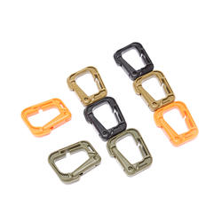 Много пластика мульти-использование Grimloc d-кольцо карабин безопасности Пряжка для застежка для рюкзака брелок