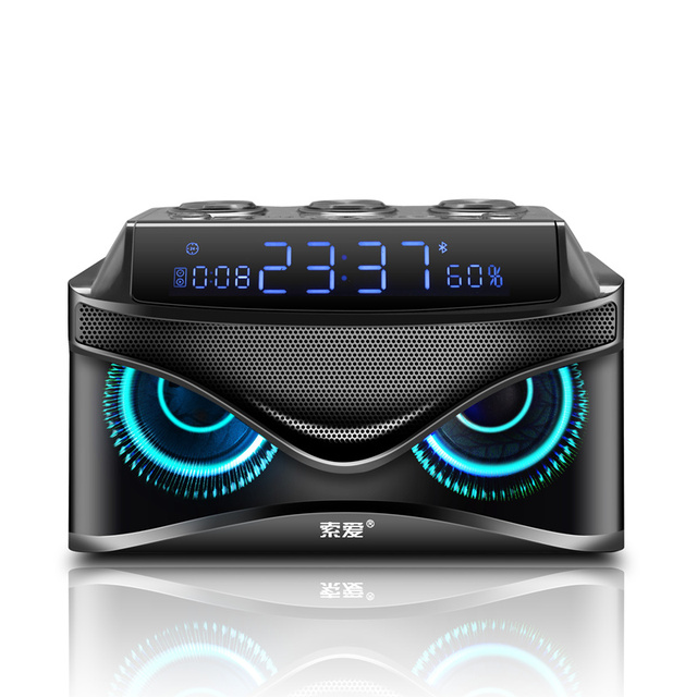SOAIY S68 Mini LED Speakers 25W Portable Wireless Bluetooth Speaker Smart Bass Outdoor with 3 Drivers Support FM TF Fast Ship