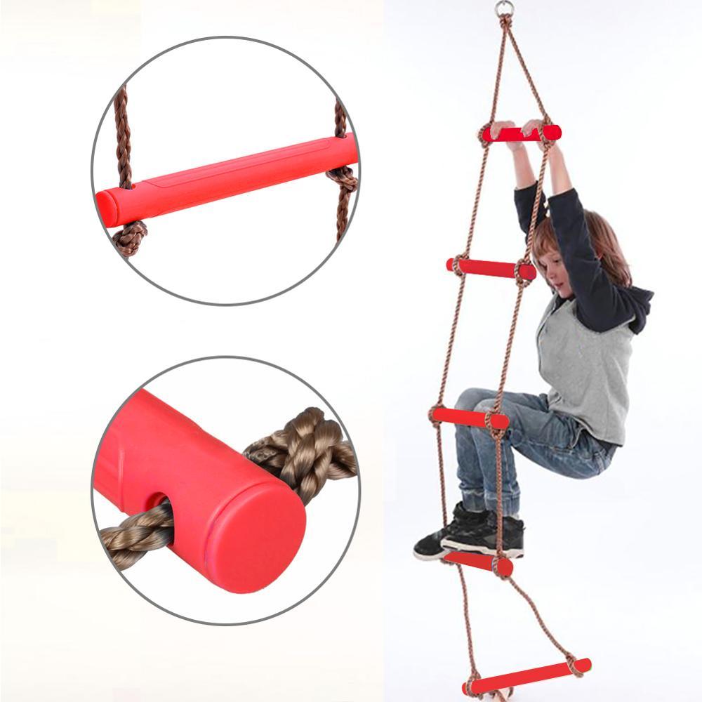 Échelons en bois PE corde échelle enfants escalade jouet enfants Sport corde balançoire sûr Fitness jouets équipement intérieur extérieur jardin