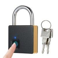10 Set Fingerprints Smart Fingerprint Lock Quick Unlock USB Rechargeable Smart Door Lock Metal Fingerprint Door Lock with 2 Keys