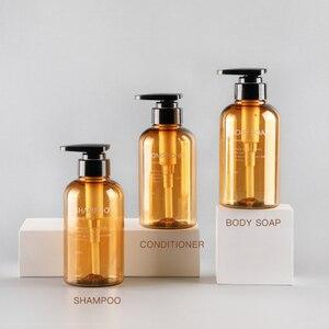 Image 4 - 3pcs Soap Dispenser Bottle Hand Sanitizer Bottle Cosmetics Shampoo Body Wash Lotion Bottle Outdoor Travel Tools 300ML/500ML