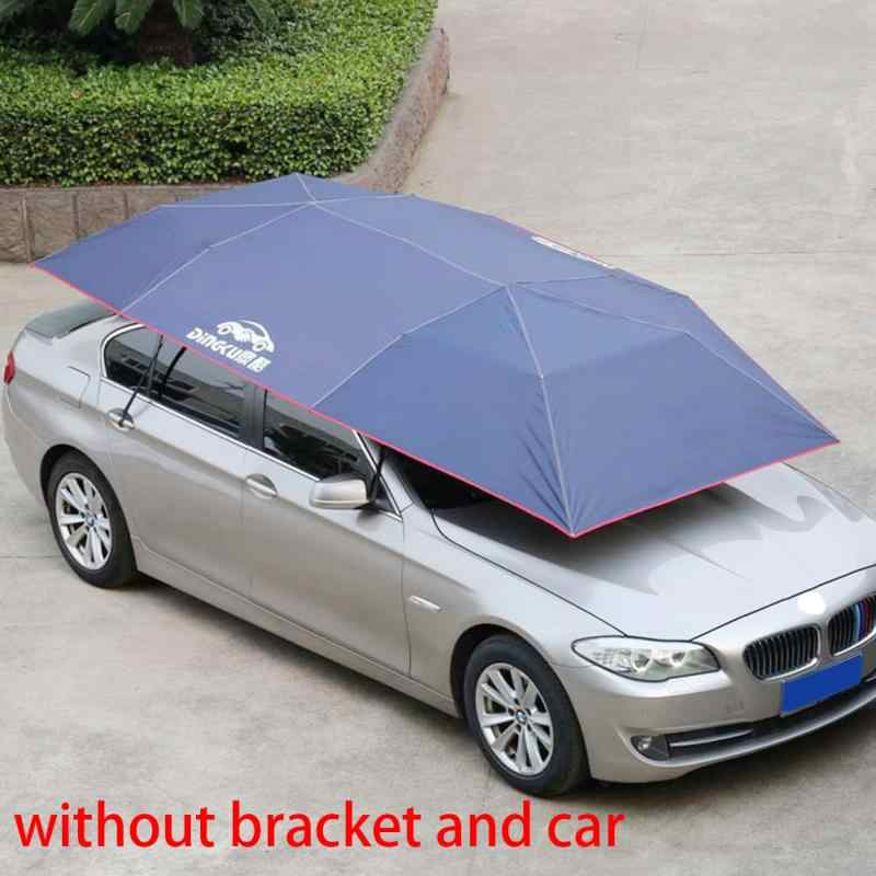 Windproof Outdoor Buttons Insulation Waterproof Picnic Foldable Sun Shade Mobile Auto Car Cover Easy Install Umbrella Dustproof