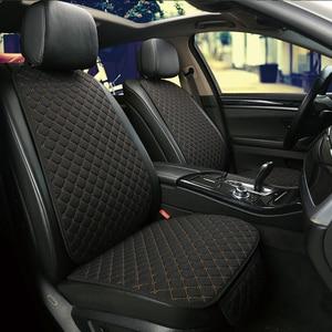 Image 3 - להתחמם בחורף מכונית פשתן מושב כיסוי מגן קדמי או אחורי מושב כרית כרית כרית חזרה אביזרי רכב מתאים עבור כל