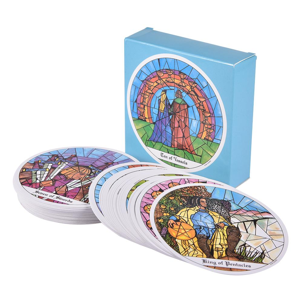 78 Pcs Cards Tarot Of The Cloisters Cards Board Game 1993 Round Card Playing Card Deck Games Entertainment For Family Party Gift