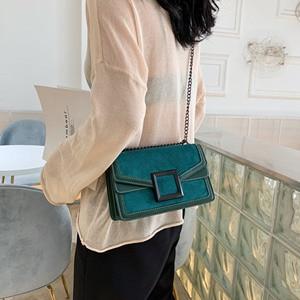 Image 3 - Scrub couro corrente crossbody sacos para as mulheres 2020 inverno ombro simples bolsa de viagem feminina bolsas de telefone celular