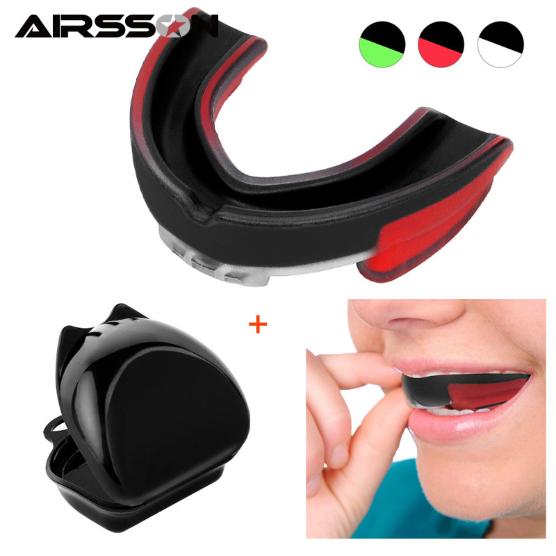 Men Mouth Guard For Boxing Sports Oral Teeth Protect Equipment Safety Soft EVA Guards Football Basketball Fitness Accessories|Mouth Guard|Sports & Entertainment - title=