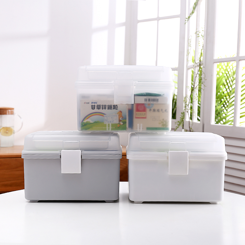 Household Multi-Layer Medicine Box First Aid Medicine Storage Box Household Small Medicine Box Plastic