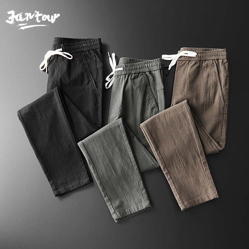 2020 New Stretch Casual Pants Men Spring Summer High Quality Business Trousers Men's Straight Trousers Pant Male Size 28-36 38