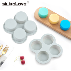 SILIKOLOVE 4 Cavity Round Sweet Candy Molds Silicone Candy Molds Gummy Candy Mold Baking Accessories