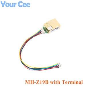 Image 4 - MH Z19 MH Z19B NDIR kızılötesi CO2 sensörü modülü kızılötesi karbon dioksit co2 monitör gaz sensörü 0 5000ppm LART PWM MH Z19B