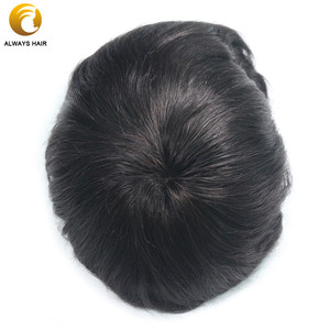 Image 4 - Durable Breathable Mens Toupee French Lace with Poly Coating Indian Human Hair System Men 7 Sizes Hair Nuit