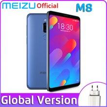 Глобальная версия Meizu M8, 4 Гб ОЗУ, 64 Гб ПЗУ, мобильный телефон V8, четыре ядра, полный экран, двойная задняя камера, 3100 мАч, отпечаток пальца