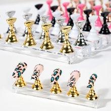 Porte-ongles magnétique en alliage acrylique, support de formation et de présentation, armure, faux ongles, vernis Gel, outils de manucure Tc #029