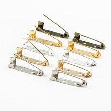 10 pçs/lote 15 20 25 30 35 mm broche clipe base pinos pinos de segurança broche configurações em branco base para diy jóias fazendo suprimentos