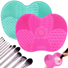 1PC Makeup Brush Cleaning Pad Silicone Brush Cleaner Mat Cosmetic Make Up Brushes Washing Little Scrubber Board Clean Wash Tool