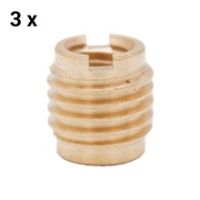 Brass Dual-Threaded Insert for Wooden Tap Handle Beer Tap Handle Insert 3pc/lot Homebrew Hardware
