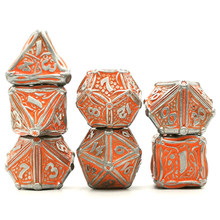 DND dice set rpg dice board game dice for dungeon and dragon dice Polyhedral Metal Dice digital gear D&D Dice gift dice